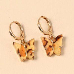3/$20 New Gold Leopard Butterfly Earrings